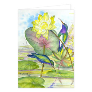 "Grußkarte ""Hummingbirds & Water-Lilies"". Motiv: MaCristina RC. SKU: 720514"