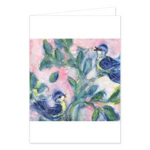 "Grußkarte ""Blaumeisen"". Motiv: Karina Finkenau. SKU: 102867"