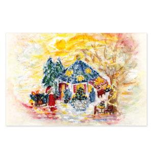 "Grußkarte ""Weihnachtsavillon"". Motiv: Karina Finkenau. SKU: 720462"
