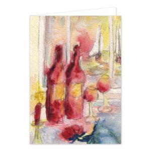 "Mini-Grußkarte ""Gemütlich"". Motiv: Karina Finkenau. SKU: 720509"